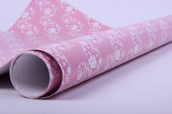 бумага глянец 100/819 розовые слоны  0,7*1м  (10листов)