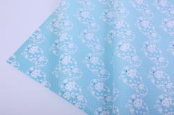 бумага глянец 100/820 голубые слоны  0,7*1м  (10листов)