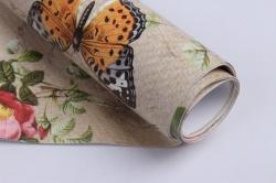 бумага  глянец  бабочки ретро  0,7*1м в лист. 78г/м2 (10 лист.) м