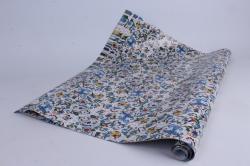 Бумага  ГЛЯНЕЦ Барокко синие  0,7*1м в лист. 78г/м2 (10 лист.)  М