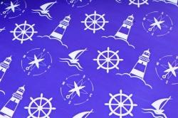 Бумага ГЛЯНЕЦ  01/022 двусторонняя Морская тематика  68*98см (10 листов)