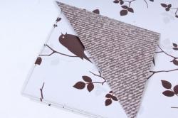 Бумага ГЛЯНЕЦ  01/025 двусторонняя Птички и ткань  68*98см (10 листов)