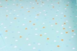 Бумага Глянец (И) Бисер на голубом 70*100см 78г/м2 (10шт в уп) В124