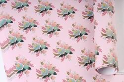 Бумага Глянец (И) Букет на розовом 70*100см 78г/м2 (10шт в уп) В123