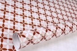 Бумага Глянец (И) Калейдоскоп розовый 70*100см 78г/м2 (10шт в уп) В123
