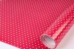 Бумага Глянец (И) Крапинка на красном 70*100см 78г/м2 (10шт в уп) В124