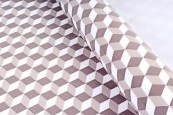 Бумага Глянец (И) Кубы коричневые 70*100см 78г/м2 (10шт в уп) В120