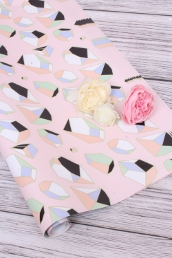 Бумага Глянец (И) Кубы на розовом 70*100см 78г/м2 (10шт в уп) В127