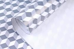 Бумага Глянец (И) Кубы серые 70*100см 78г/м2 (10шт в уп) В120