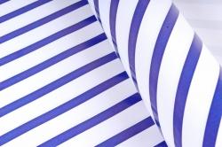 Бумага Глянец (И) Полоска синяя 70*100см 78г/м2 (10шт в уп) В125