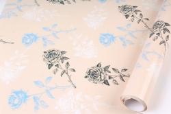 Бумага Глянец (И) Розы на бежевом 70*100см 78г/м2 (10шт в уп) В123