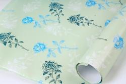 Бумага Глянец (И) Розы на мятном 70*100см 78г/м2 (10шт в уп) В123