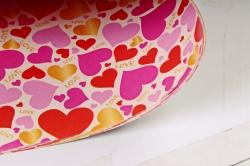 Бумага Глянец (И) Сердечки цветные 70*100см 78г/м2 (10шт в уп) В124