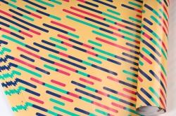 Бумага Глянец (И) Штрихи цветные 70*100см 78г/м2 (10шт в уп) В122