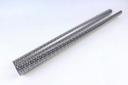 Бумага Глянец (И) Соты черные 70*100см 78г/м2 (10шт в уп) В125