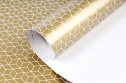 Бумага Глянец (И) Соты золотые 70*100см 78г/м2 (10шт в уп) В125