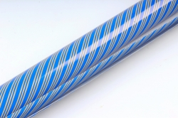 Бумага Глянец (И) Трехполоска синяя 70*100см 78г/м2 (10шт в уп) В121