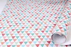 Бумага Глянец (И) Треугольники цветные 70*100см 78г/м2 (10шт в уп) В124