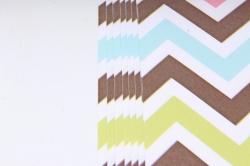 Бумага Глянец (И) Зиг-заг цветной 70*100см 78г/м2 (10шт в уп) В124