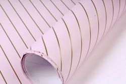 Бумага Глянец (И) Золотая полоса розовый 70*100см 78г/м2 (10шт в уп) В121