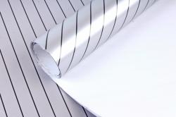 Бумага Глянец (И) Золотая полоса серебро 70*100см 78г/м2 (10шт в уп) В121