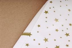 Бумага Глянец (И) Звезды на белом 70*100см 78г/м2 (10шт в уп) В125