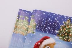 бумага  глянец нов. год мишки   0,7*1м в лист. (10 лист.)