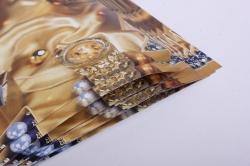 бумага  глянец нов. год новогоднее золото   0,7*1м в лист. (10 лист.)
