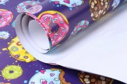бумага  глянец  пончики  0,7*1м в лист. (10 лист.)  78г/м2  м