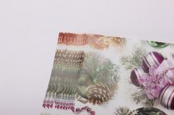 бумага глянец  шары на ветке  0,7*1м в лист. (10 лист.)