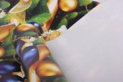 бумага глянец  шары синие  0,7*1м в лист. (10 лист.)