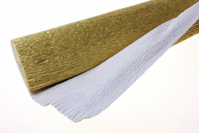 бумага гофрированная металлизированная 801 - золото