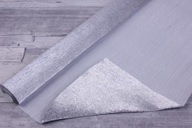 бумага гофрированная металлизированная 802 - серебро