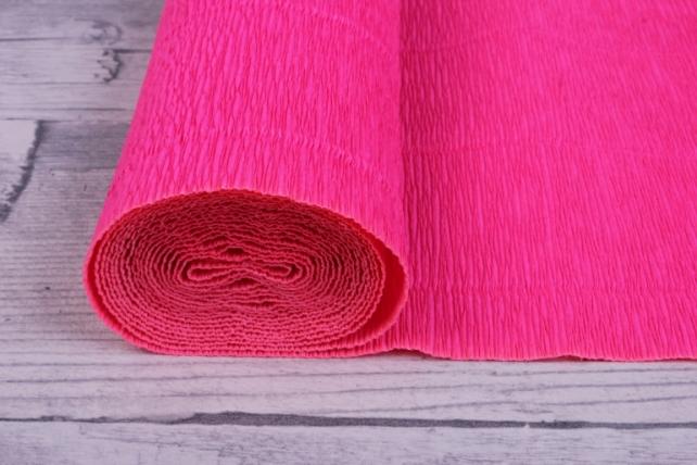 бумага гофрированная проста - ярко-розовый 551