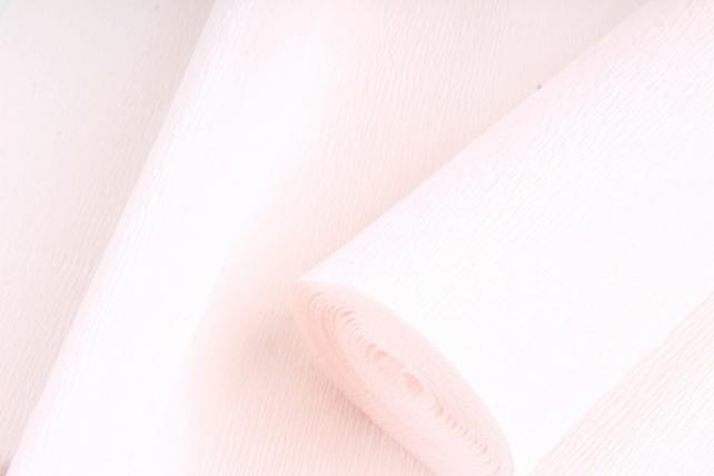 Бумага гофрированная простая 616 бледно светло-розовый