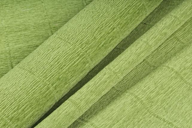 Бумага гофрированная простая 622 оливково-зеленый