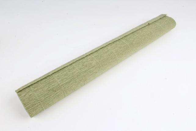 Бумага гофрированная простая 612 темно оливковый