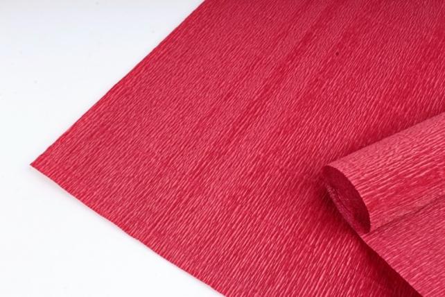 Бумага гофрированная простая 583 темно-красный