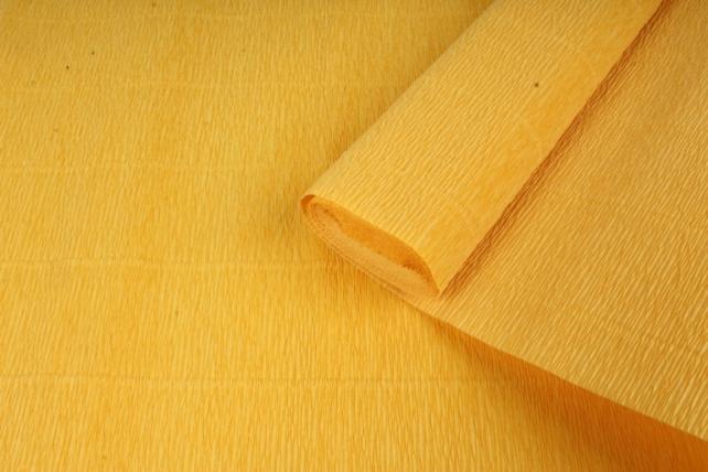 бумага гофрированная простая 17е5/1705 темно желтый