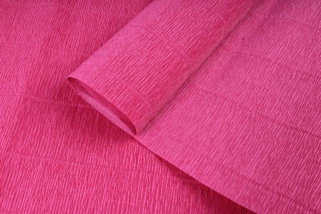 бумага гофрированная простая 547 темно розовый