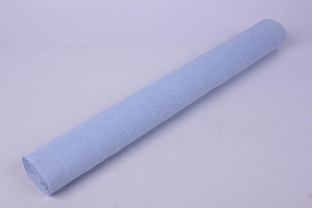 бумага гофрированная простая 559 нежно-голубой