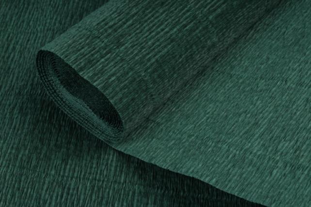 Бумага гофрированная простая 561 темно-зеленая
