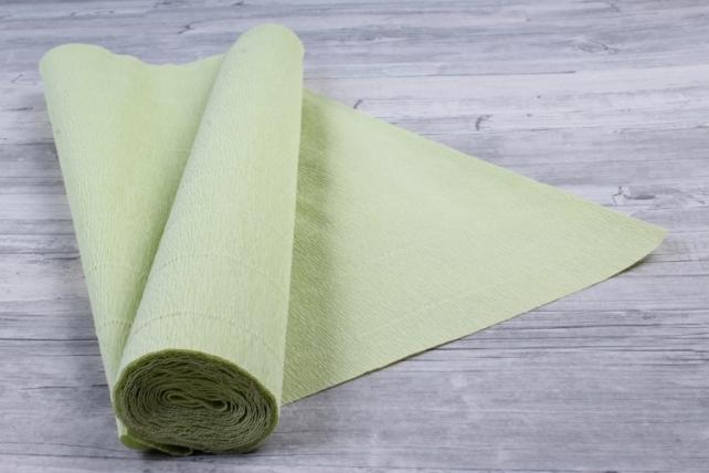 бумага гофрированная простая 566 светло-салатовый