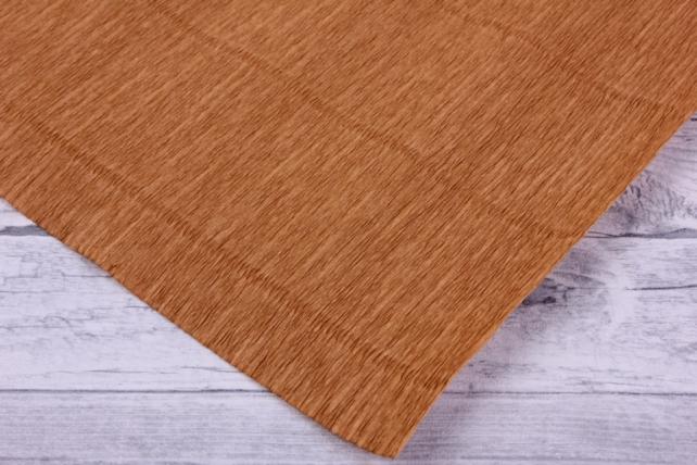бумага гофрированная простая 567 светло-коричневый
