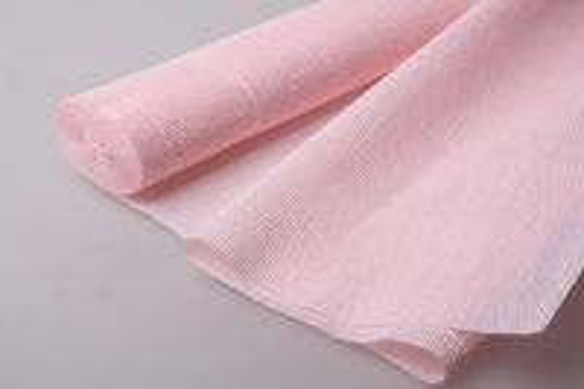 бумага гофрированная простая 569 бело-розовый