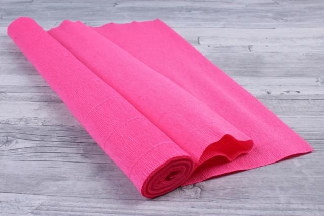 бумага гофрированная простая 571 кислотно-розовый