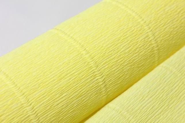 бумага гофрированная простая 574 желтый