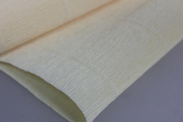 бумага гофрированная простая 577 лимонно-кремовый