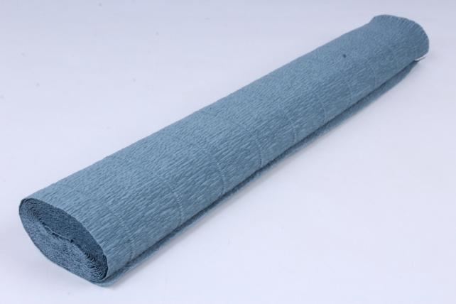бумага гофрированная простая 606 сероголубой
