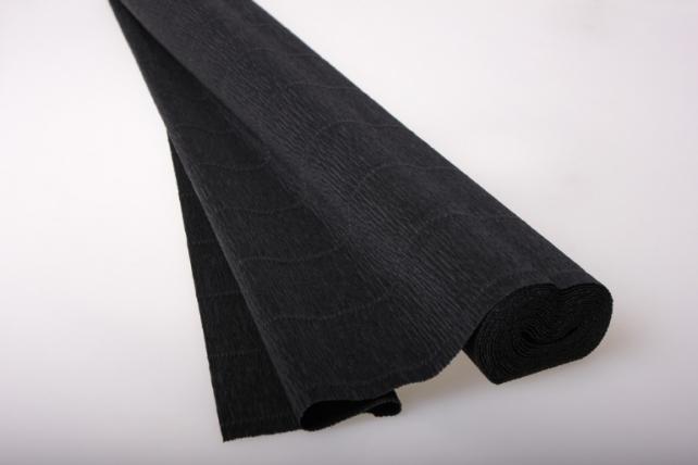 бумага гофрированная простая - чёрный 602